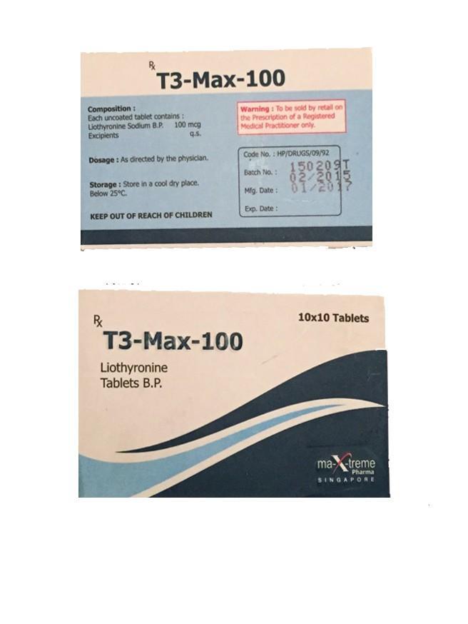 T3 Max Triiodothyronine generika 100mcg